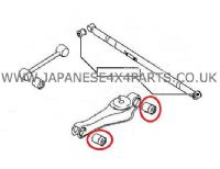 Mitsubishi Delica 2.8TD PE8W/PD8W/PF8W Import - Rear Lower Trailing Arm Bush Kit (1 Side)
